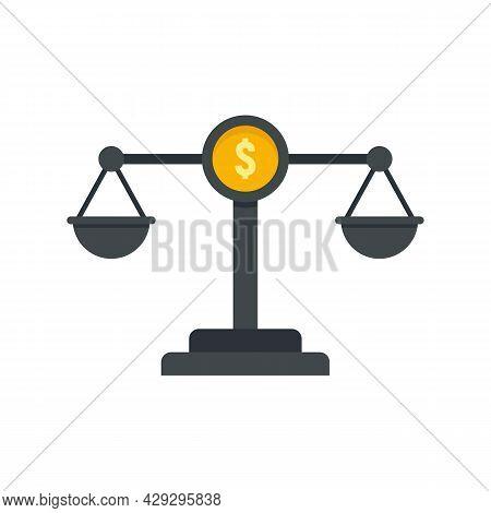 Money Balance Online Loan Icon. Flat Illustration Of Money Balance Online Loan Vector Icon Isolated