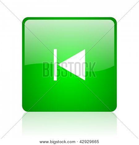 prev green square web icon on white background