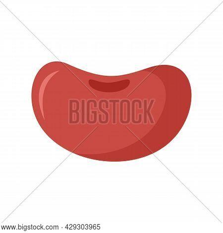 Food Kidney Bean Icon. Flat Illustration Of Food Kidney Bean Vector Icon Isolated On White Backgroun
