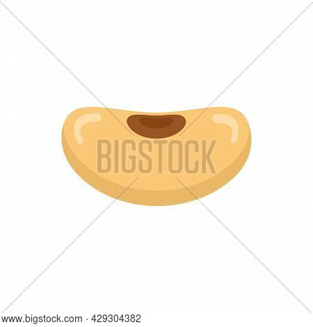 Seed Kidney Bean Icon. Flat Illustration Of Seed Kidney Bean Vector Icon Isolated On White Backgroun