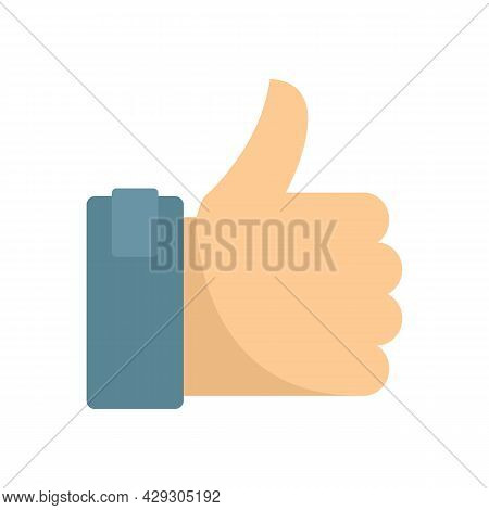 Excellence Thumb Up Icon. Flat Illustration Of Excellence Thumb Up Vector Icon Isolated On White Bac