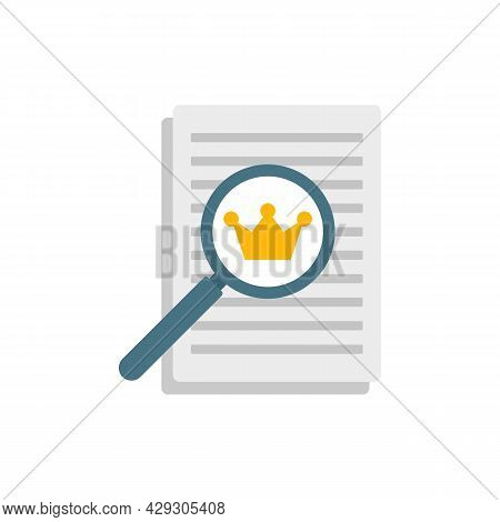 Excellence Paper Report Icon. Flat Illustration Of Excellence Paper Report Vector Icon Isolated On W