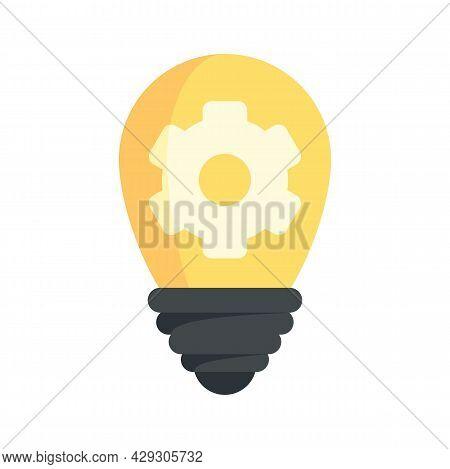 Innovation Bulb Idea Icon. Flat Illustration Of Innovation Bulb Idea Vector Icon Isolated On White B