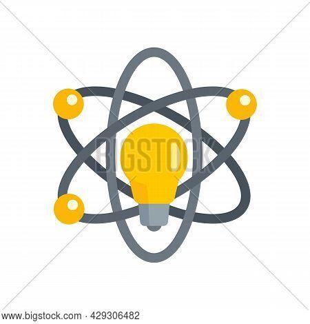 Atom Idea Innovation Icon. Flat Illustration Of Atom Idea Innovation Vector Icon Isolated On White B