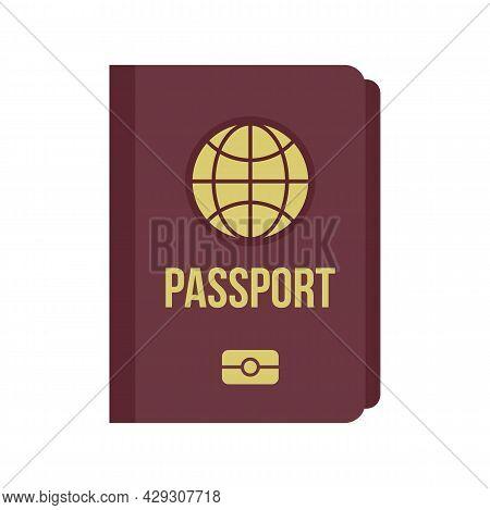 International Passport Icon. Flat Illustration Of International Passport Vector Icon Isolated On Whi