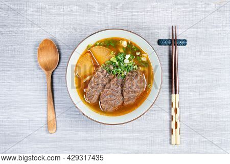 Taiwanese Beef Noodle Soup Is A Noodle Soup Dish Originating From Taiwan.