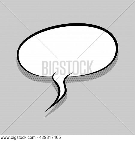 Comics Speech Bubble For Text Pop Art Design. White Empty Dialog Cloud For Text Message, Tag, Advert