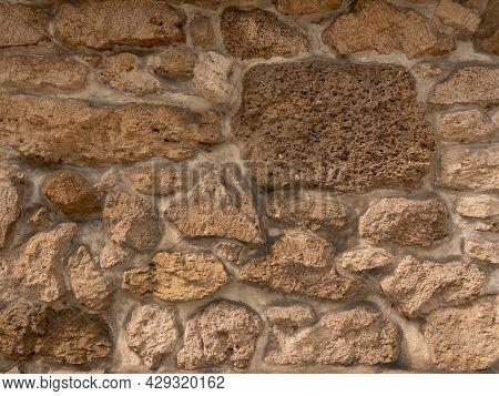 Background. Masonry Wall. Old Natural Stone Masonry Walls.