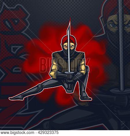 Logo Talisman Ninja In Combat Position E Sport Team.