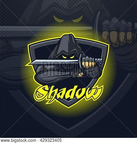 Shadow Assassin Logo Mascot E Sport Team Or Print On T-shirt.