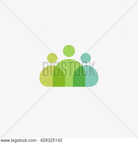 Persons Icon, People Team, Three Man Silhouette, Online Support, Staff Icon. Leadership In Office Wo