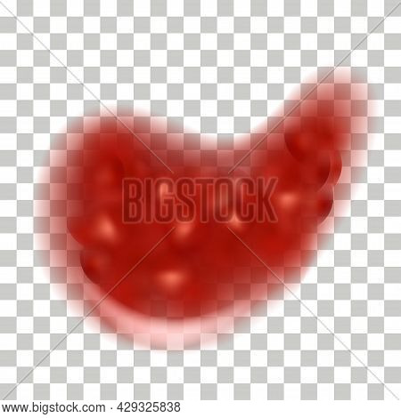 Strawberry Jam Splash, Liquid Syrup Texture. Red Strawberry Or Cherry Flowing  Drip Blob Isolated On