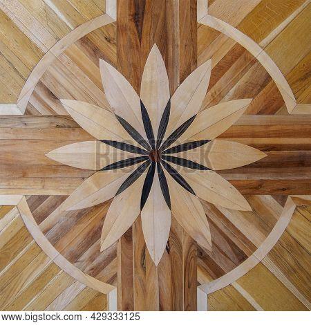 Vintage Ornament.decorative Pattern.tile Mosaic.wooden Texture.decorative Element For The Interior O