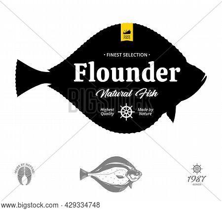 Vector Flounder Label