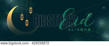 Eid Al Adha Celebration Banner Design Vector Illustration