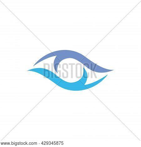 Vector Logo Design Of Eye Health Vision. Eye Logo. Eye Vector. Eye Icon