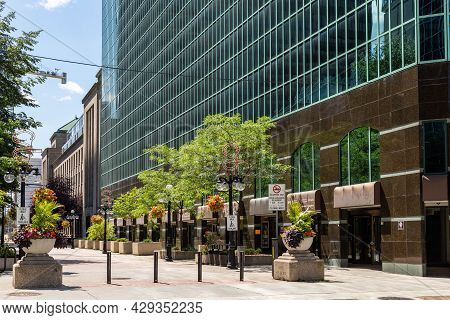 Sparks Street In Downtown Of Ottawa City In Canada