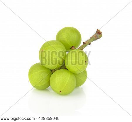 A Indian Gooseberry Isolated On White Background