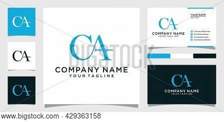 Ca Or Ac Letter Logo Design Vector With Business Card Design.