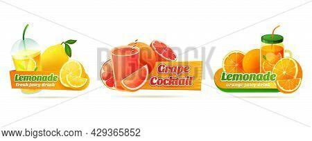 Labels For Refreshing Citrus Or Fruity Beverages