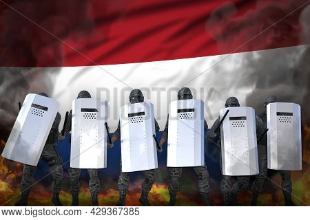 Netherlands Police Swat In Heavy Smoke And Fire Protecting Peaceful People Against Disorder - Protes