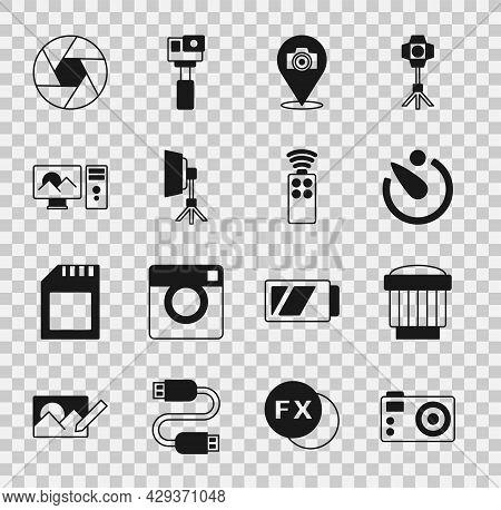 Set Photo Camera, Camera Photo Lens, Timer, Softbox Light, Retouching, Shutter And Remote Control Fo