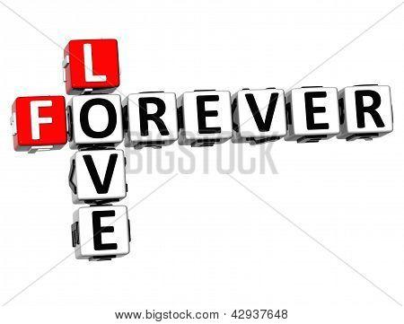 3D Love Forever Crossword