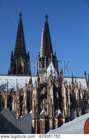 Cologne Landmark, Germany. Unesco World Heritage Site In Germany - Koeln Cathedral.