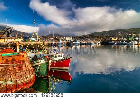 Scenery of Dingle seaport in County Kerry. Ireland