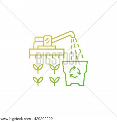 Provision Surplus Gradient Linear Vector Icon. Goods Excess. Supply Demand For Products. Excessive A