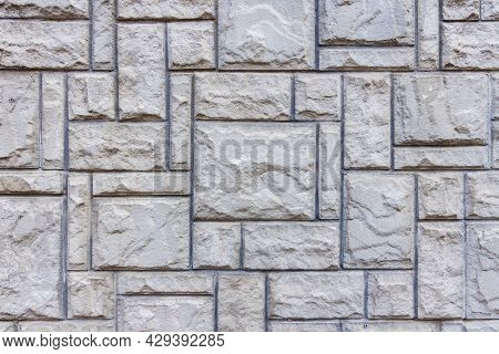 Gray Wall Element Geomentric Object Of Cells Architecture Shape Background Texture Concept Photo