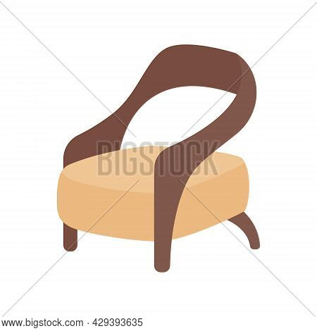 Contemporary Armchair Semi Flat Color Vector Object. Modern Furniture. Full Sized Item On White. Liv