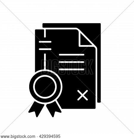 Patents Black Glyph Icon. Property Right Granting. Comprehensive Disclosure Of The Invention. Intell