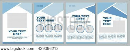 Geometric Pastel Promotional Brochure Template. Flyer, Booklet, Leaflet Print, Cover Design With Cop