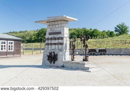 Rogoznica, Poland - June 3, 2021: Monument Commemorating The Victims Of Kl Gross-rosen In Former Naz