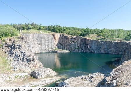 Rogoznica, Poland - June 3, 2021: Stone-pit Of Gross-rosen, German Nazi Concentration Camp.