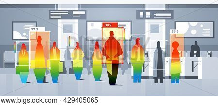 Detecting Elevated Body Temperature Of Subway Passengers Checking By Non-contact Thermal Ai Camera S