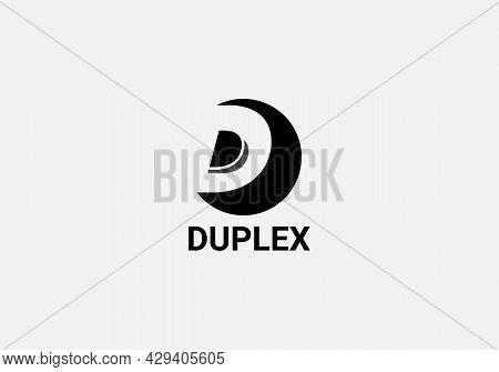 Duplex Abstract D Letter Modern 3d Lettermarks Logo Design