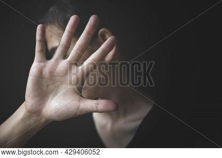 Woman Bondage Image Blur , Stop Violence Against Women, International Women's Day