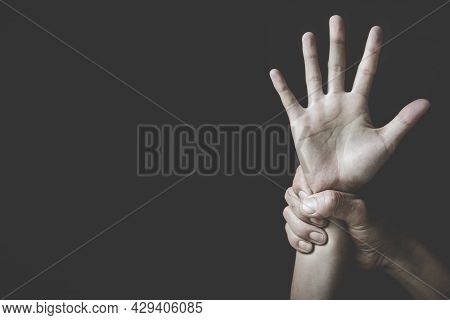 Stop Hand. Concept Against Something , Stop Violence Against Women And Rape, International Women's D