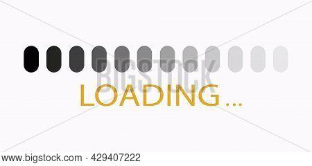 Loading Bar Isolated On White Background. Loading Panel. Vector Lettering
