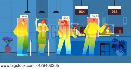 Detecting Elevated Body Temperature Of People In Waiting Room Checking By Non-contact Thermal Ai Cam