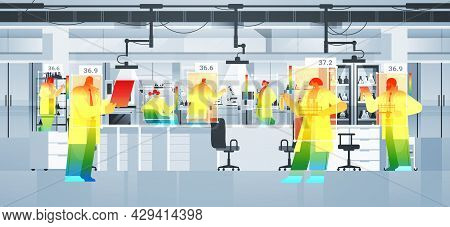 Detecting Elevated Body Temperature Of Scientists In Lab Checking By Non-contact Thermal Ai Camera S