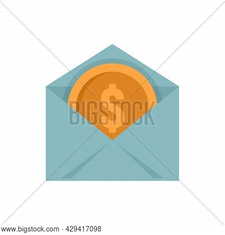 Crowdfunding Mail Icon. Flat Illustration Of Crowdfunding Mail Vector Icon Isolated On White Backgro