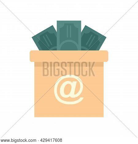 Crowdfunding Money Box Icon. Flat Illustration Of Crowdfunding Money Box Vector Icon Isolated On Whi