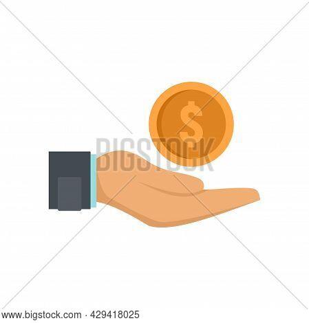 Crowdfunding Keep Money Icon. Flat Illustration Of Crowdfunding Keep Money Vector Icon Isolated On W