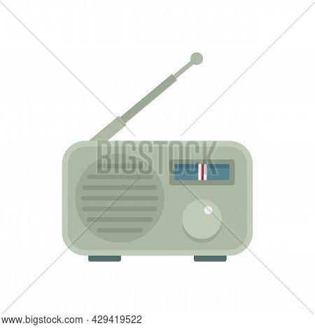 Portable Radio Icon. Flat Illustration Of Portable Radio Vector Icon Isolated On White Background