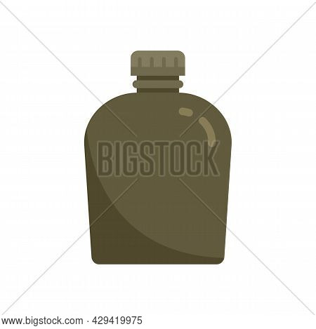 Survival Water Flask Icon. Flat Illustration Of Survival Water Flask Vector Icon Isolated On White B