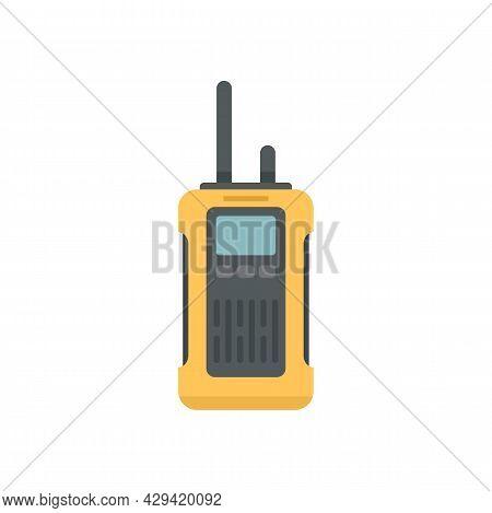Survival Walkie Talkie Icon. Flat Illustration Of Survival Walkie Talkie Vector Icon Isolated On Whi