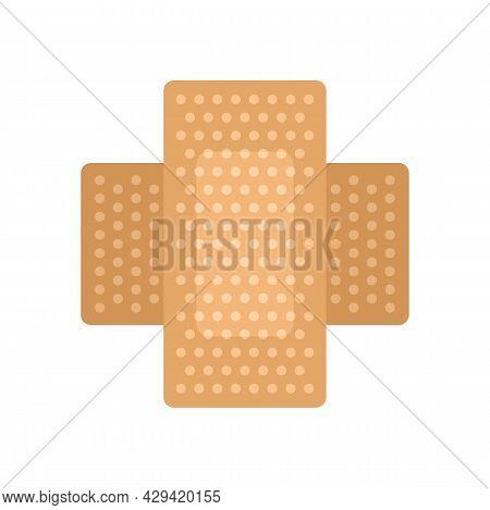 Survival Skin Plaster Icon. Flat Illustration Of Survival Skin Plaster Vector Icon Isolated On White